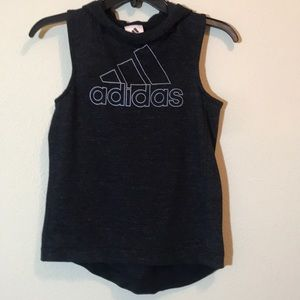 Adidas Sleeveless Black Hooded Sweatshirt SZ Med.